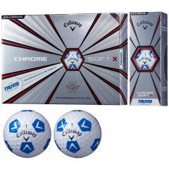 キャロウェイゴルフ CHROM SOFTCHROME SOFT X TRUVIS ボール 3ダースセット 3ダース(36個入り) ホワイト/ブルー