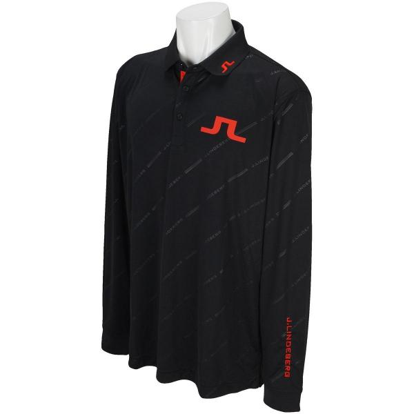 J.リンドバーグ J.LINDEBERGTOUR TECH REG TX Jersey +(Tonal debossed graphic on) 長袖ポロシャツ