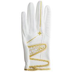 キャスコ KASCOパームフィット グローブ L 左手着用(右利き用) ホワイト/ゴールド レディス