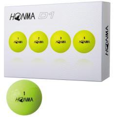 本間ゴルフ HONMAD1 ボール 2018年モデル 1ダース(12個入り) イエロー