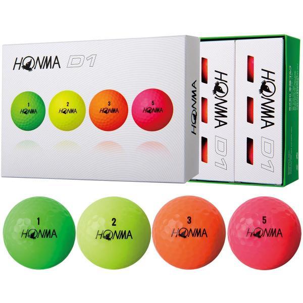 本間ゴルフ HONMAD1 ボール 2018年モデル 1ダース(12個入り) ホワイト
