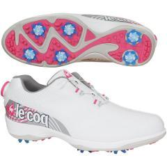 ルコックゴルフ Le coq sportif GOLFゴルフシューズ 24cm ホワイト/ピンク WHPK レディス