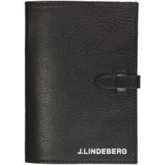 J.リンドバーグ J.LINDEBERGレザースコアカードホルダー ブラック