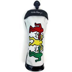 キース・ヘリング Keith Haringヘッドカバー FW用 有り/ダイヤル式(3、4、5、7、X) ホワイト