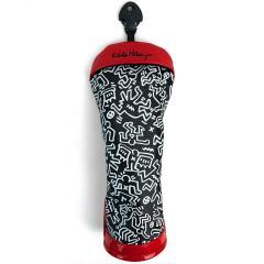 キース・ヘリング Keith Haringヘッドカバー FW用 有り/ダイヤル式(3、4、5、7、X) ブラック