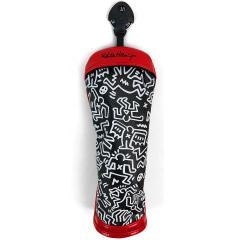 キース・ヘリング Keith Haringヘッドカバー UT用 有り/ダイヤル式(2、3、4、5、6、UT) ブラック
