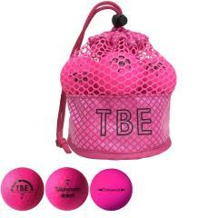 飛衛門 TOBIEMONメッシュバッグ入り 蛍光マットボール 1ダース(12個入り) ピンク