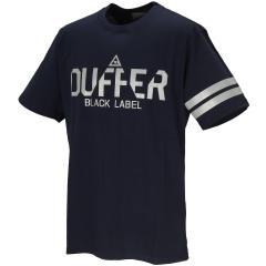 ザ ダファー オブ セントジョージ The DUFFER of ST.GEORGEBLACK LABEL リフレクトロゴプリント 半袖Tシャツ