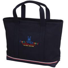 サイコバニー PSYCHO BUNNYマルチカラーロゴ キャンバストートバッグ サイズS