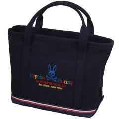 サイコバニー PSYCHO BUNNYマルチカラーロゴ キャンバストートバッグ サイズXS