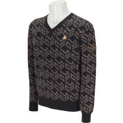 ルコックゴルフ Le coq sportif GOLFキューブロゴ ジャガードセーター
