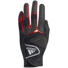 アディダス Adidasアディフィット ノンスリップ グローブ 5枚セット 26cm 左手着用(右利き用) ブラック/レッド