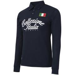 カッパ KappaCollezione ITALIA レタリング長袖ポロシャツ
