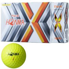 本間ゴルフ TOUR WORLDTW-X ボール 1ダース(12個入り) イエロー