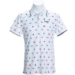 アドミラル Admiralアイコン総柄 半袖ポロシャツ
