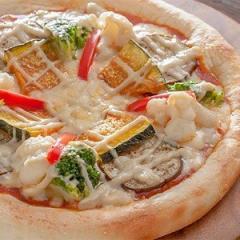 彩り 野菜 の バーニャカウダ  ピザ 【冷凍ピザ pizza set 冷凍 ピッツァ】