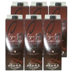 カフェインレスアイスリキッドコーヒー【6本】セット/ 無糖