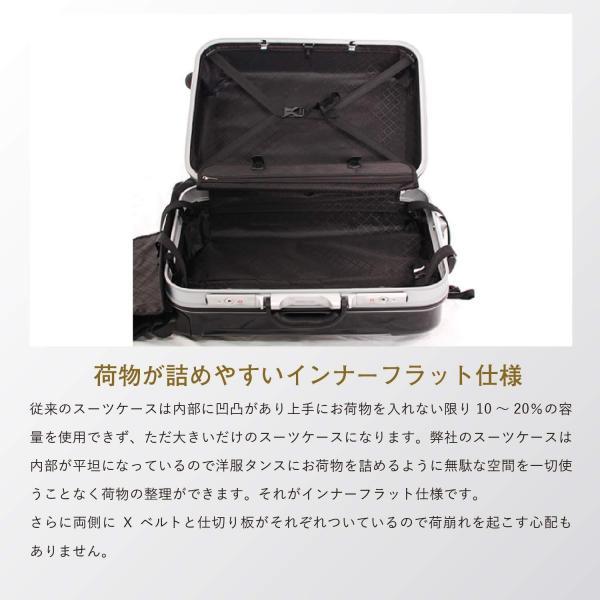 GRIFFINLAND PC7000 スーツケース Lサイズ 大型 軽量 約122L 人気 1年間保証 アルミフレーム ハードケース 日乃本錠前 グリスパック キャリーケース