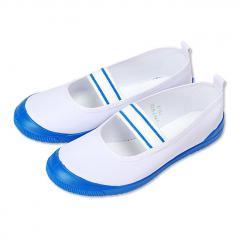 ムーンスター moonstar ビニールバレー 上履き 上靴 日本製 バレーシューズ  キッズシューズ  スクールシューズ  男の子 女の子 学校 子供靴 白/コン ホワイト ネイビー
