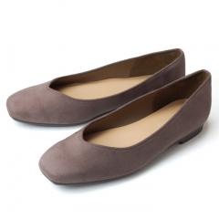 FIRST CONTACT ファーストコンタクト 日本製 パンプス Vカット 1.5cmヒール スクエアトゥ スエード 痛くない ローヒール  39702 撥水 レディース 靴