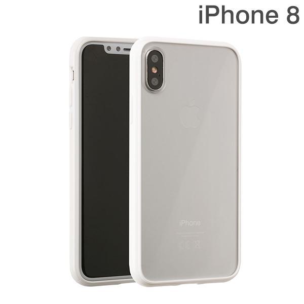 [iPhone X専用]サイドカラードクリアハイブリッドケース(ホワイト)
