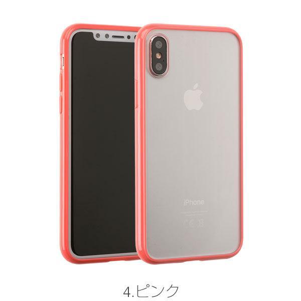 [iPhone X専用]サイドカラードクリアハイブリッドケース(ブラック)
