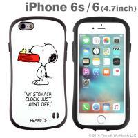 [iPhone 6s/6専用]PEANUTS/ピーナッツ iFace First Classケース(スヌーピー&ウッドストック/ホワイト)