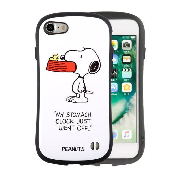 [iPhone 8/7専用]PEANUTS/ピーナッツ iFace First Classケース(スヌーピー&ウッドストック/ホワイト)