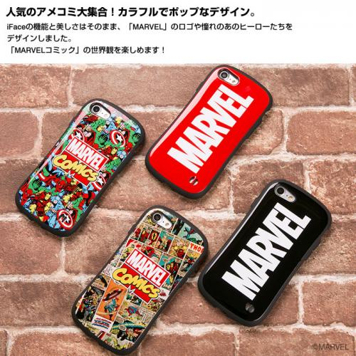[iPhone 8/7専用]MARVEL/マーベル iFace First Classケース/ロゴ(ブラック)