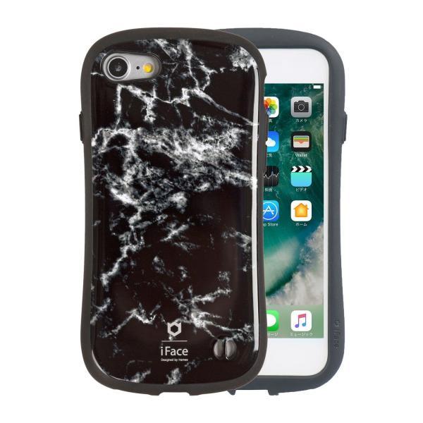 [iPhone 8/7専用]iFace First Class Marbleケース(ブラック)