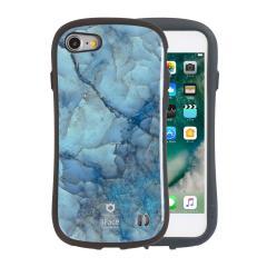 [iPhone 8/7専用]iFace First Class Marbleケース(ブルー)