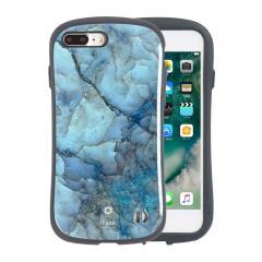 [iPhone 8Plus/7Plus 専用]iFace First Class Marbleケース(ブルー)