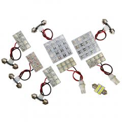 ╋エクストレイル T31用 LED ルームランプ+T10 10点計94発 保証※クリックポスト発送