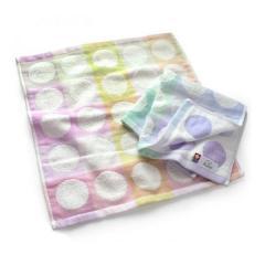 今治タオル ハンドタオル ガーゼタオル 2枚セット 水玉 チェック 日本製 ブルーラベンダー1枚+ピンク1枚