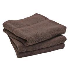 タオル バスタオル 約59×120cm チョコブラウン 無地 綿100% デイリータオル ヒオリエ 日織恵 日本製 国産 1枚 やや薄手 シンプル デイリー仕様 吸水 毎日使い 普段使い