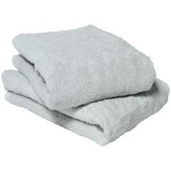 今治タオル バスタオル 同色2枚セット ふわふわリブタオル 日本製  ミストグレー2枚