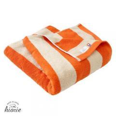 今治タオル バスタオル 約60×120cm オレンジ ボーダー 綿100% Drop ドロップ ヒオリエ 日織恵 日本製 国産 1枚 厚手 ボリューミー カラフル ふかふか