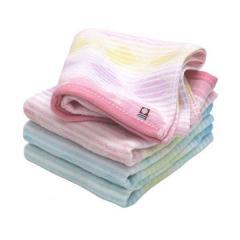 今治タオル フェイスタオル 2枚セット 幾何ジャガード スクエア 日本製 ピンク1枚+ブルー1枚