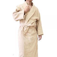 <Lサイズ>日本製 ホテルスタイル バスローブ ベージュ