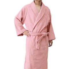 <Lサイズ>日本製 ホテルスタイル バスローブ モスピンク 【MPCP_KIT】