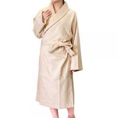 <Mサイズ>日本製 ホテルスタイル バスローブ ベージュ