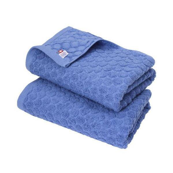 今治タオル バスタオル 2枚セット ドット 日本製 ブルー2枚