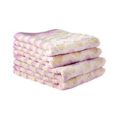 タオル 今治タオル フェイスタオル 約34×80cm ピンク 幾何ジャガード 綿100% カリブ ヒオリエ 日織恵 日本製 国産 1枚 やや薄手 吸水 速乾 デイリー仕様