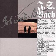 Bach, Johann Sebastian バッハ / Violin Sonata.1,  Partita For Violin Solo.1,  Etc :  桐山建志、大塚直哉【CD】