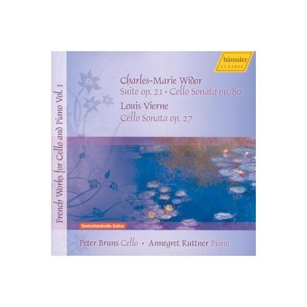 ヴィドール(1844-1937) / ヴィドール:組曲、チェロ・ソナタ、ヴィエルヌ:チェロ・ソナタ ブルンス(vc)クットナー(p)【CD】