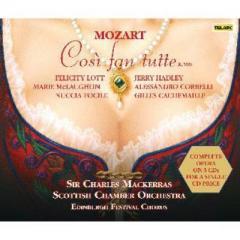 Mozart モーツァルト / 『コジ・ファン・トゥッテ』全曲 マッケラス&スコットランド室内管、ロット、マクローリン、他(1993 ステレオ)(3CD)【CD】