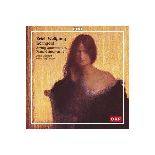 Korngold コルンゴルト / 弦楽四重奏曲第1番、第2番、第3番、ピアノ五重奏曲 アロン四重奏団、シグフリッドソン(2CD)【CD】