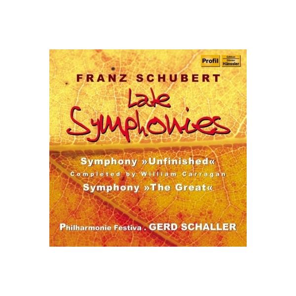 Schubert シューベルト / 交響曲第8番『未完成』(キャラガン校訂4楽章版)、第9番『グレート』 シャラー&フィルハーモニー・フェスティヴァ(2CD)【CD】