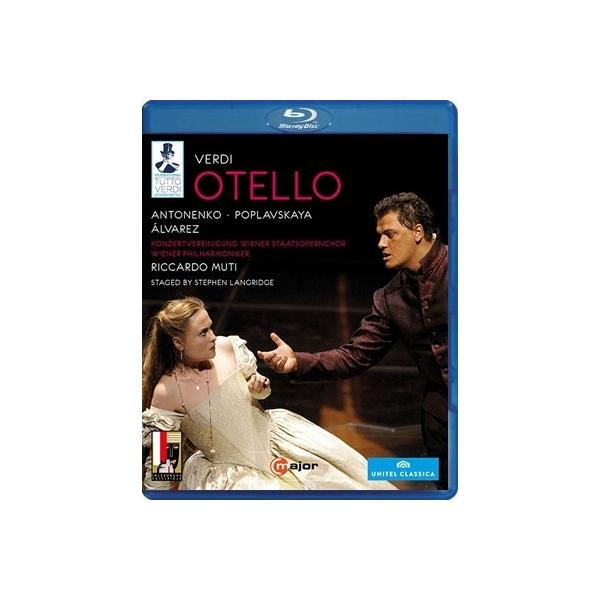Verdi ベルディ / 『オテロ』全曲 S.ラングリッジ演出、ムーティ&ウィーン・フィル、アントネンコ、ポプラフスカヤ、C.アルバレス、他(2008 ステレオ)(日本語字幕付)【BLU-RAY DISC】