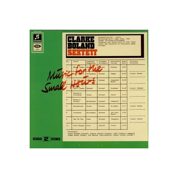 Clarke Boland Sextet クラークボランセクステット / Music For The Small Hours【CD】
